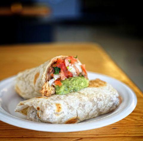 Food, Cuisine, Dish, Ingredient, Plate, Sandwich wrap, Breakfast, Recipe, Burrito, Finger food,