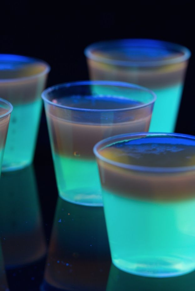 Glowing Jell-O Shots