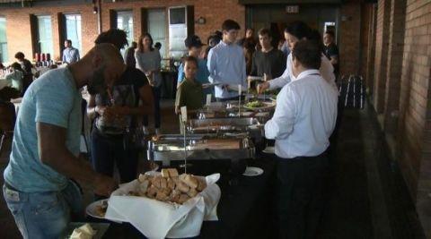 Cuisine, Food, Community, Dish, Meal, Sharing, Fast food, Customer, Restaurant, Conversation,