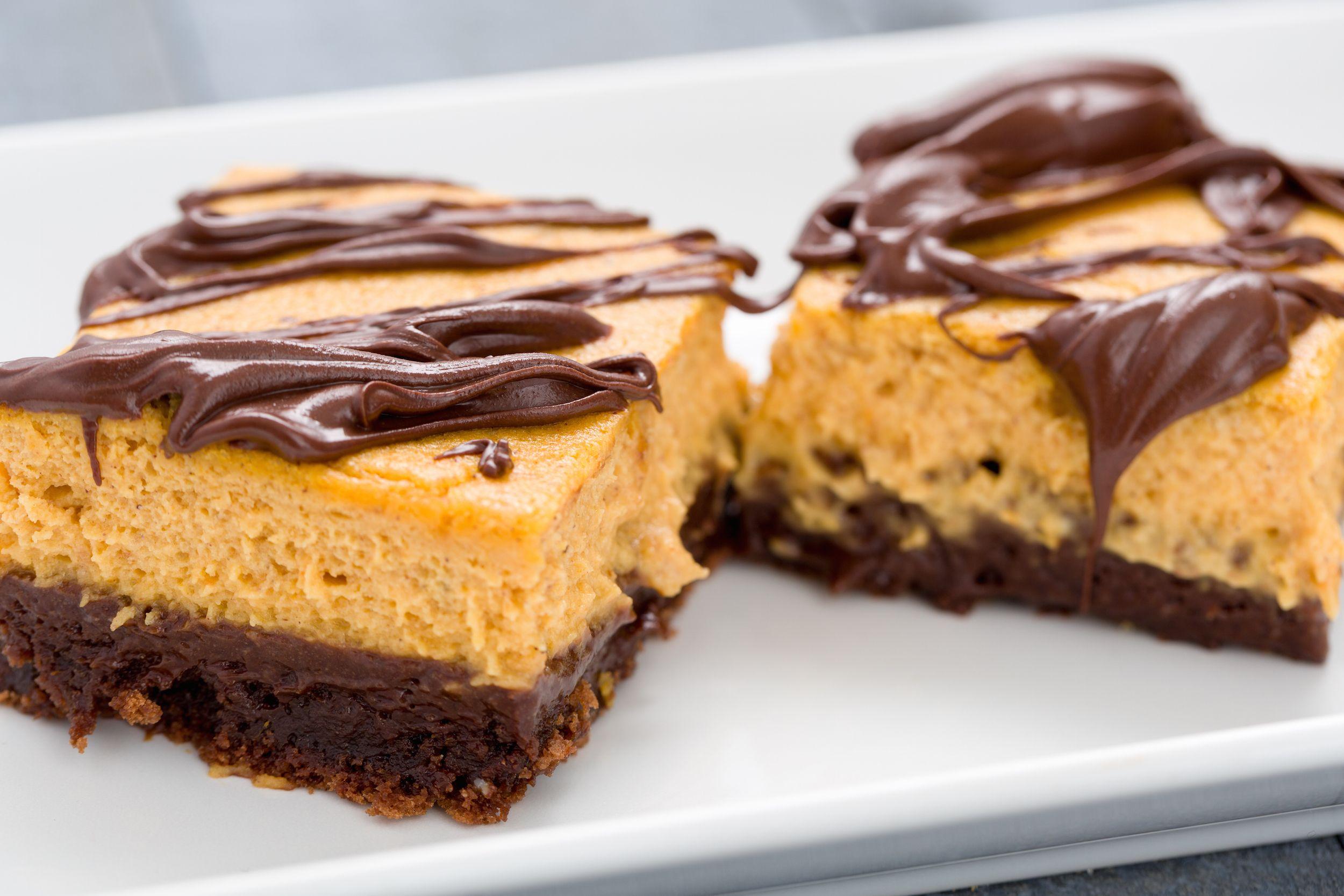 Best Pumpkin Cheesecake Brownie Bars Recipe How To Make Pumpkin Cheesecake Brownie Bars