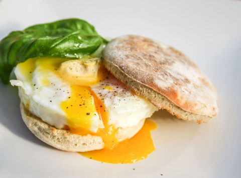 Fried Egg On English Muffin