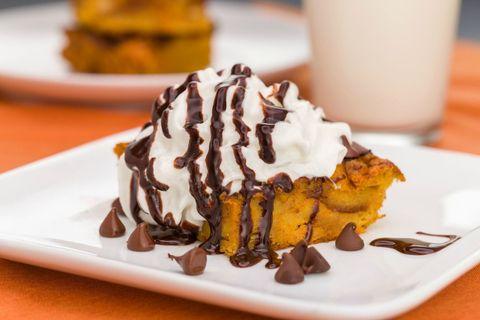pumpkin chocolate bread pudding