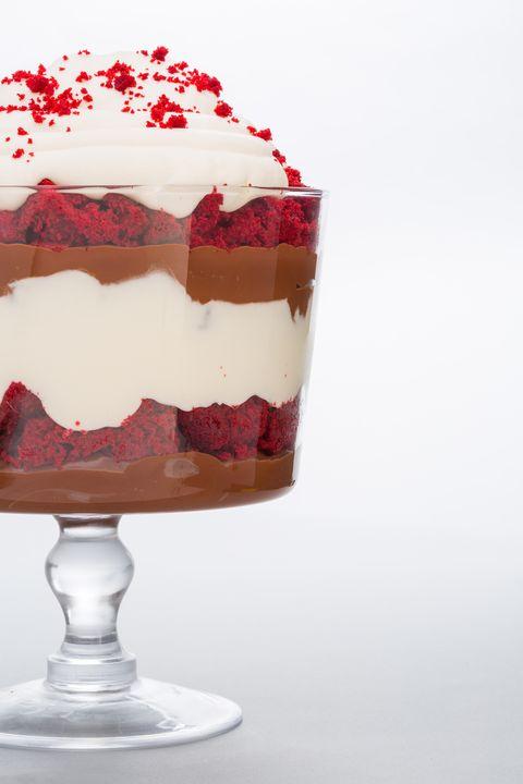 Food, Dessert, Cuisine, Trifle, Cake, Whipped cream, Frozen dessert, Dish, Cream, Zuppa inglese,