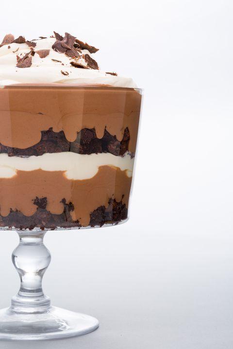 Food, Dessert, Cuisine, Dish, Trifle, Frozen dessert, Chocolate, Cake, Buttercream, Mousse,