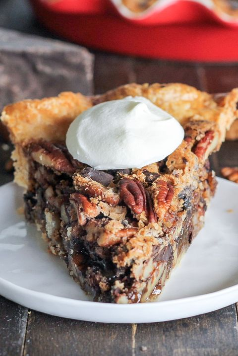 Dark Chocolate Bourbon Pecan Pie - Delish.com