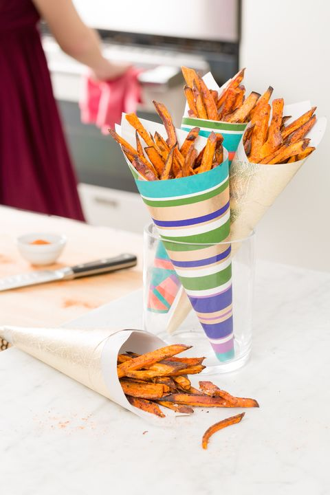 Spiced Sweet Potato Fries with Ranch Crema