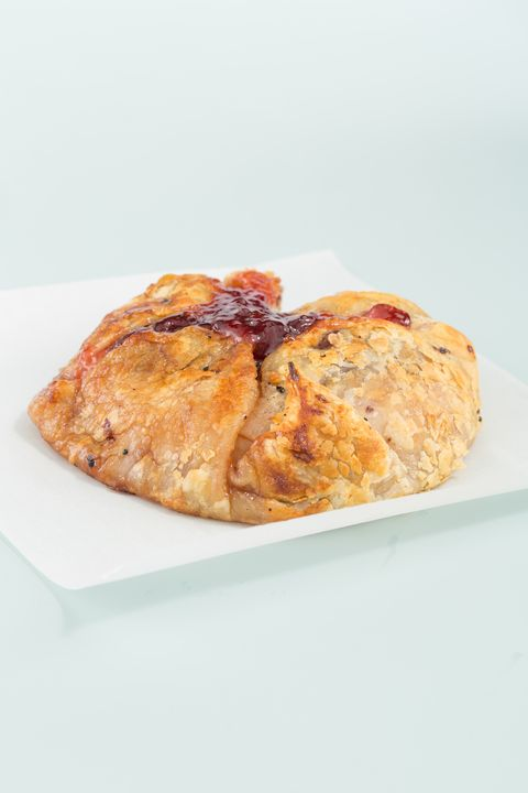 puff pastry baked brie with cherry preserves