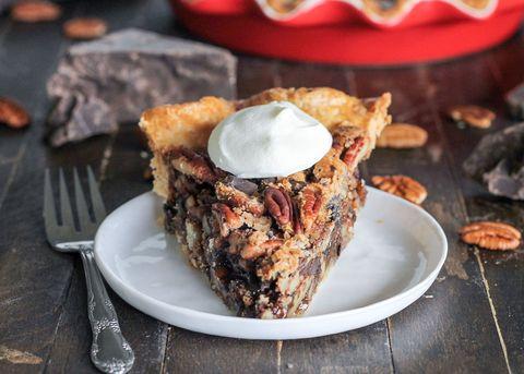 dark chocolate bourbon pecan pie