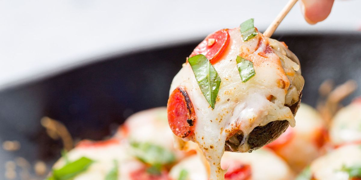 Best Pizza Stuffed Mushrooms Recipe - How to Make Pizza ...