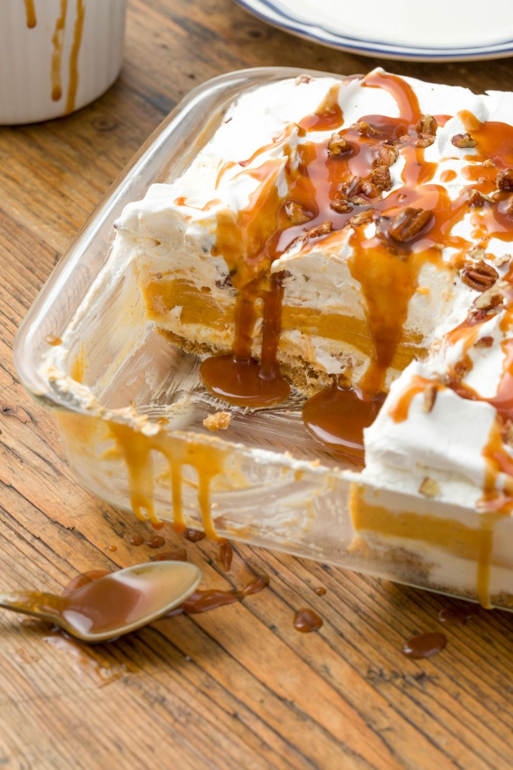 Pumpkin Cheesecake Lasagna Vertical