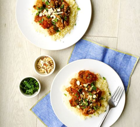 Chicken Tagine with Figs and Almonds