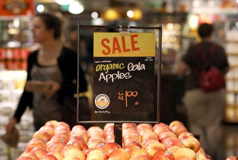 Gala apples on sale at Whole Foods
