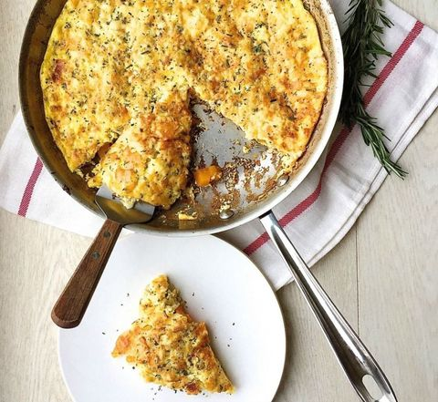 Butternut Squash Frittata with Rosemary, Bacon, and Gruyere