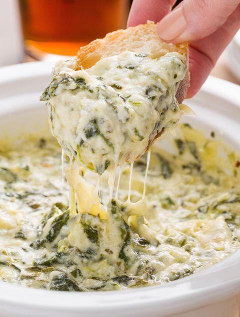 Slow-Cooker Boursin Spinach-Artichoke Dip