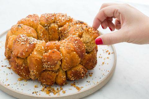everything bagel monkey bread