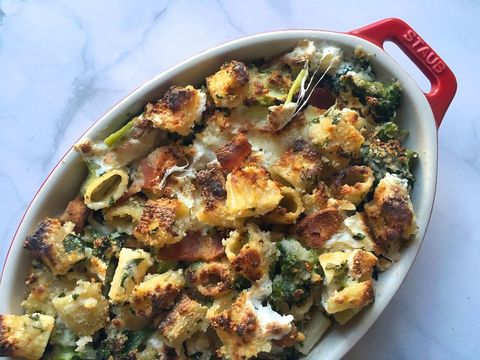 Rigatoni, Bacon and Broccoli Gratin