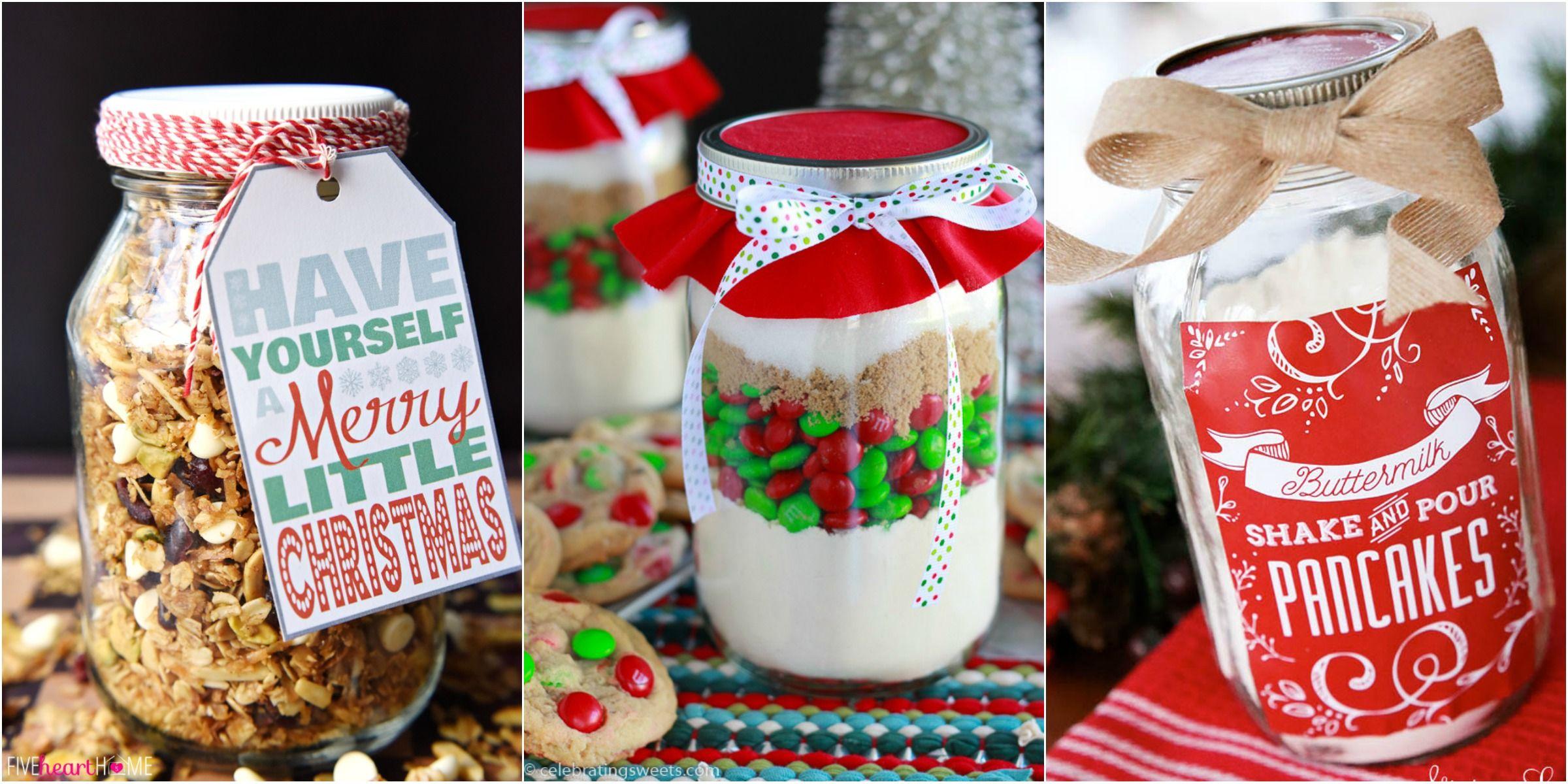 34 Mason Jar Christmas Food Gifts – Recipes for Gifts in a Mason Jar ...