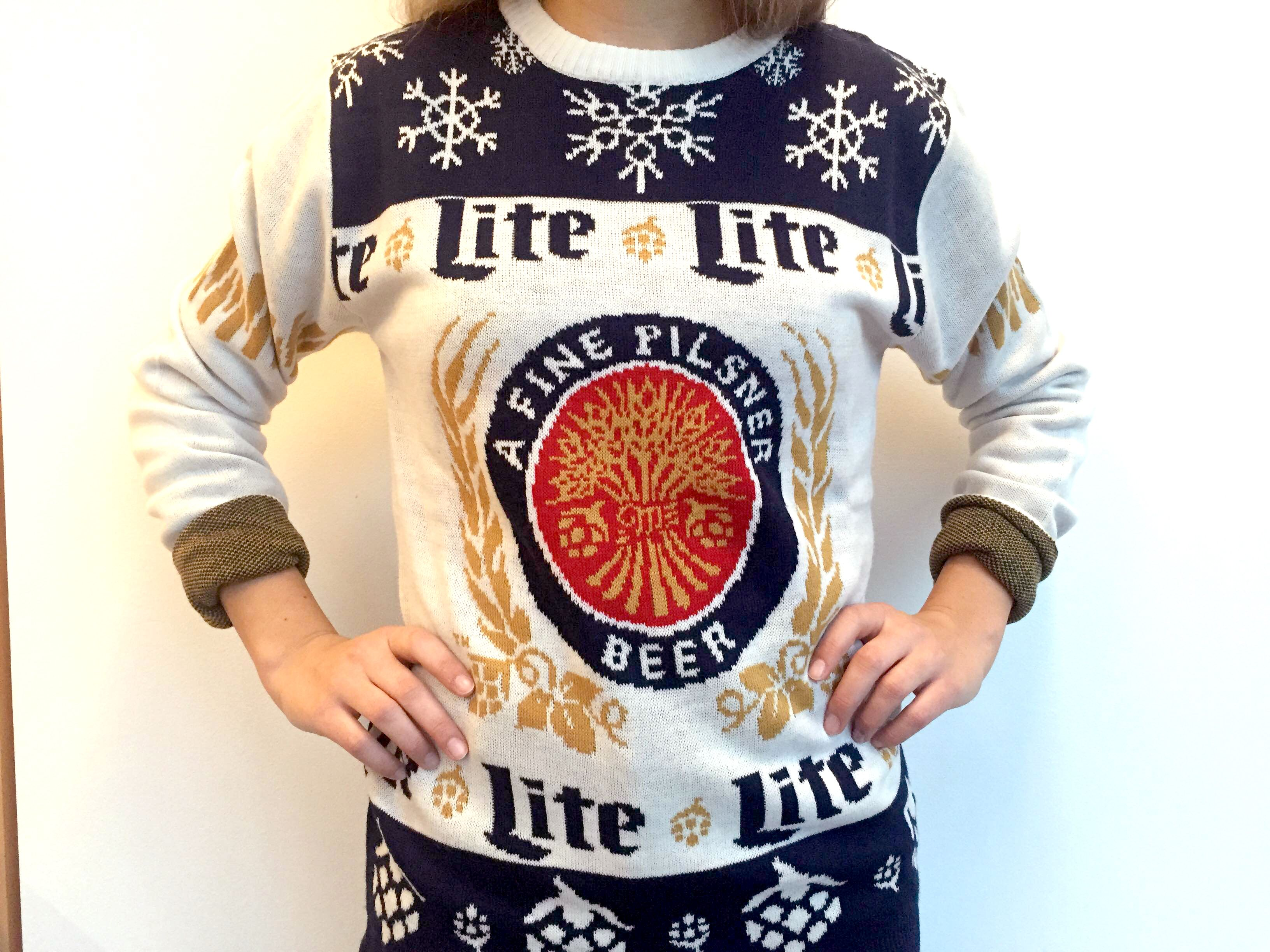 5781b5567 Miller Lite Ugly Sweater - Funny Holiday Sweaters - Delish.com