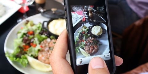 Mobile phone, Communication Device, Electronic device, Gadget, Display device, Portable communications device, Smartphone, Dishware, Tableware, Food,