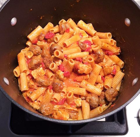 Pasta, Food, Cuisine, Dish, Recipe, Cookware and bakeware, Penne, Ingredient, Cooking, Mostaccioli,