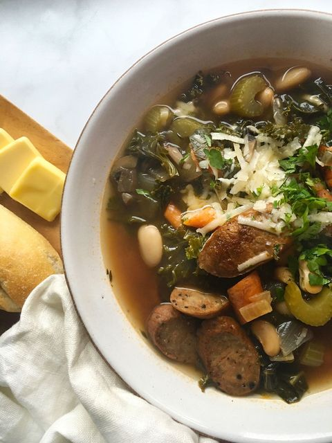 Andouille Sausage, Kale & Bean Soup