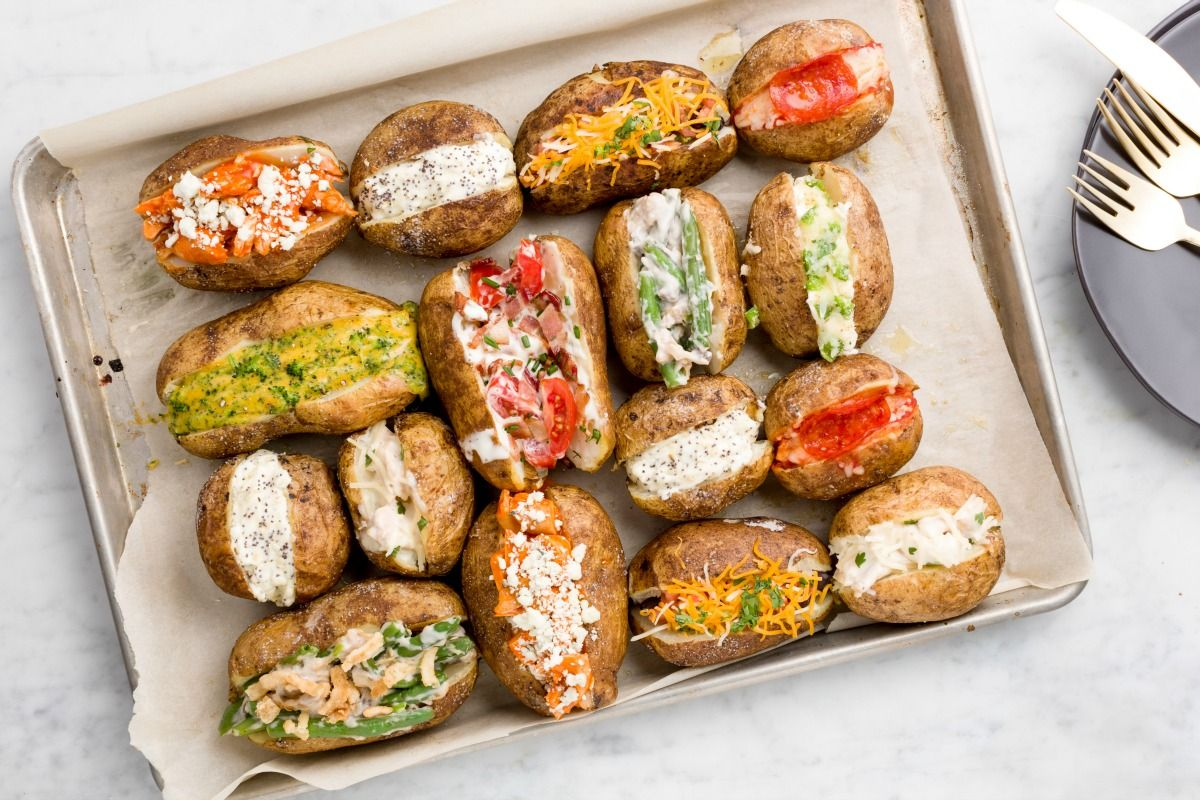 Best Baked Potato Toppings   Ways to Top Baked Potatoes   Delish.com