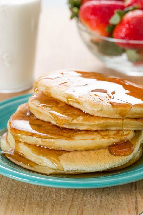 Greek Yogurt Pancakes Stacked Up
