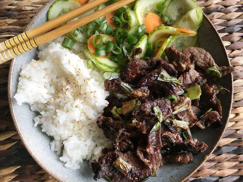 Korean BBQ Beef Rice Bowl