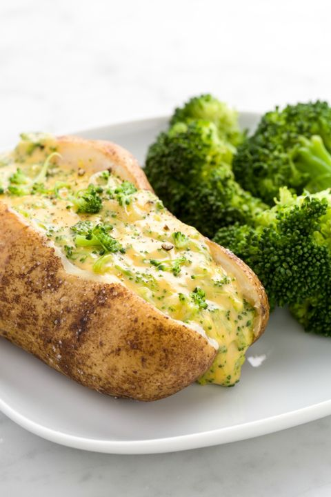 Dish, Food, Cuisine, Broccoli, Ingredient, Cruciferous vegetables, Baked potato, Garlic bread, Persillade, Potato,