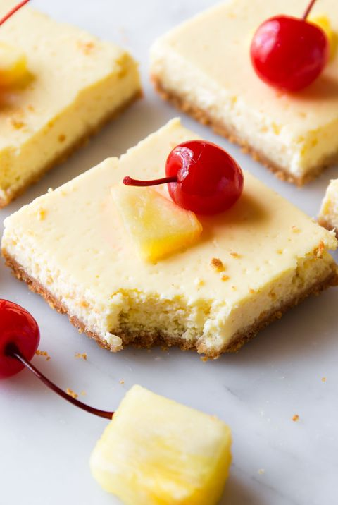 Skinny Pineapple Cheesecake Bars