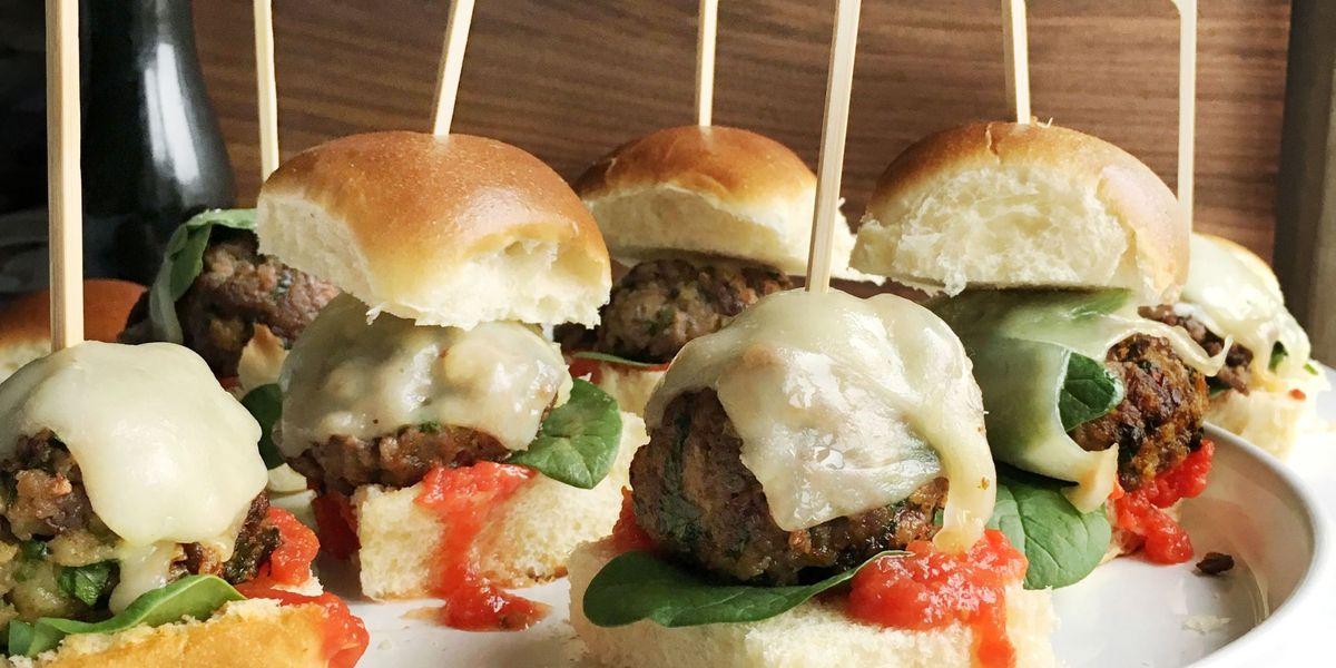 Best Meatball Sliders Recipe How To Make Meatball Sliders Delish Com