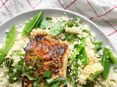 Soy Garlic Salmon with Couscous