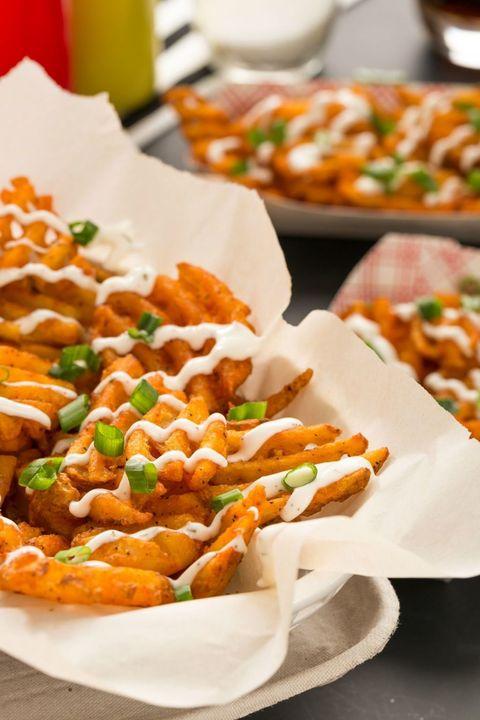 Buffalo-Ranch Waffle Fries
