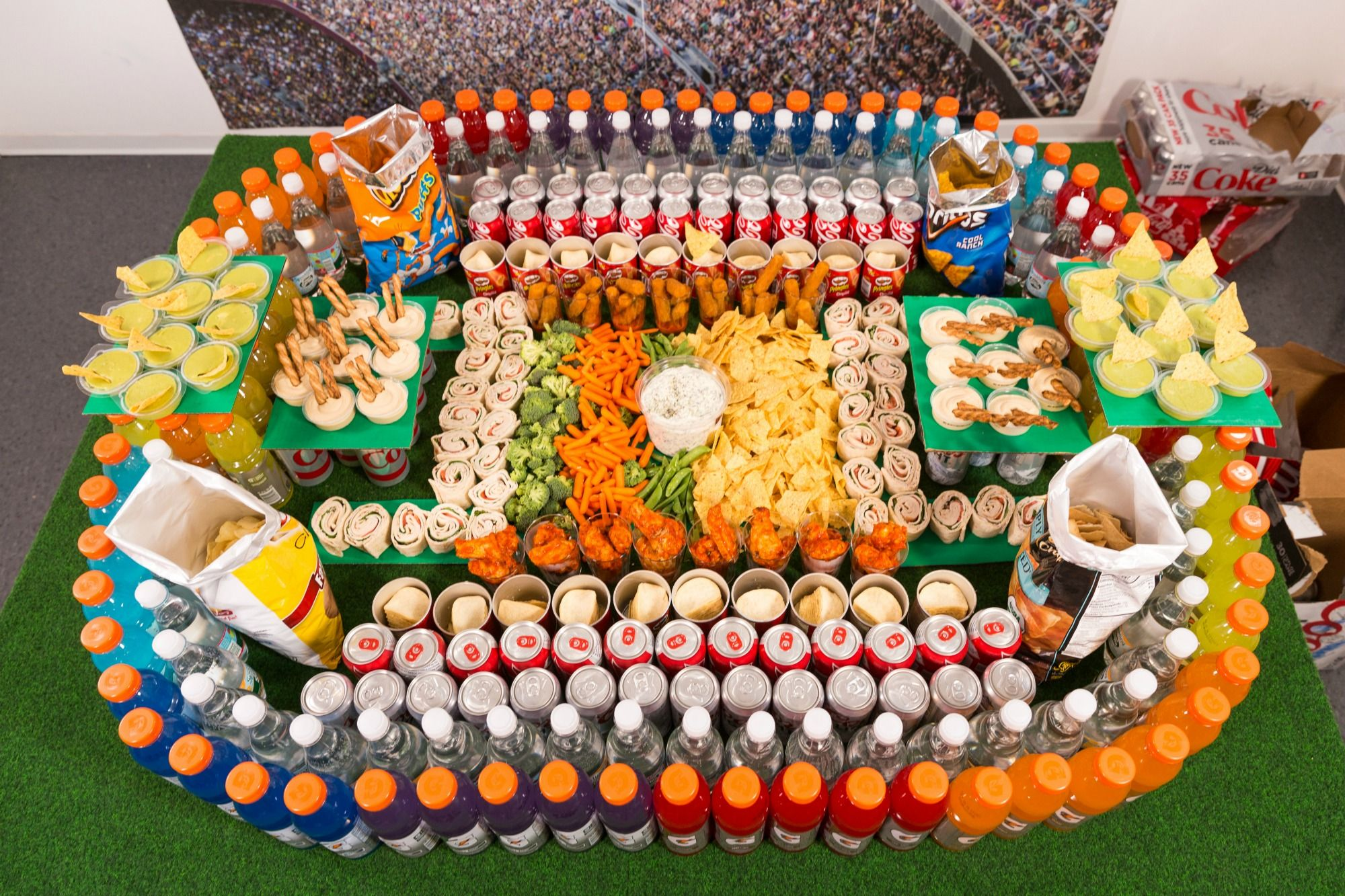 10 Best Super Bowl Snack Stadiums Of All Time How To Make A Football Snack Stadium Delish Com