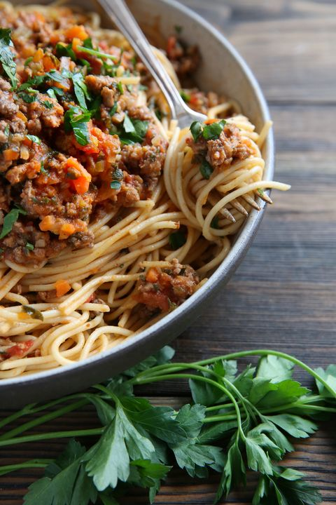 Sausage and Kale Ragu over Spaghetti