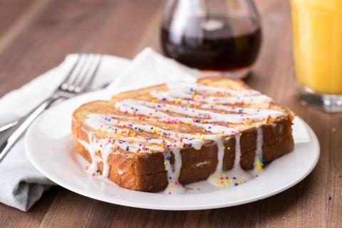 Birthday Cake Stuffed French Toast