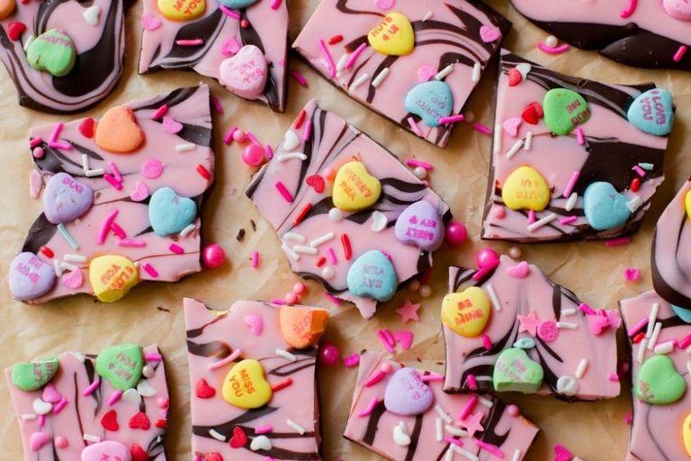 valentine's day candy heart bark