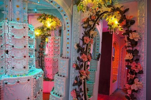 Candyland Chocolate Factory Christmas Party.This Castle Made Out Of Cake Is Basically Candy Land Come To