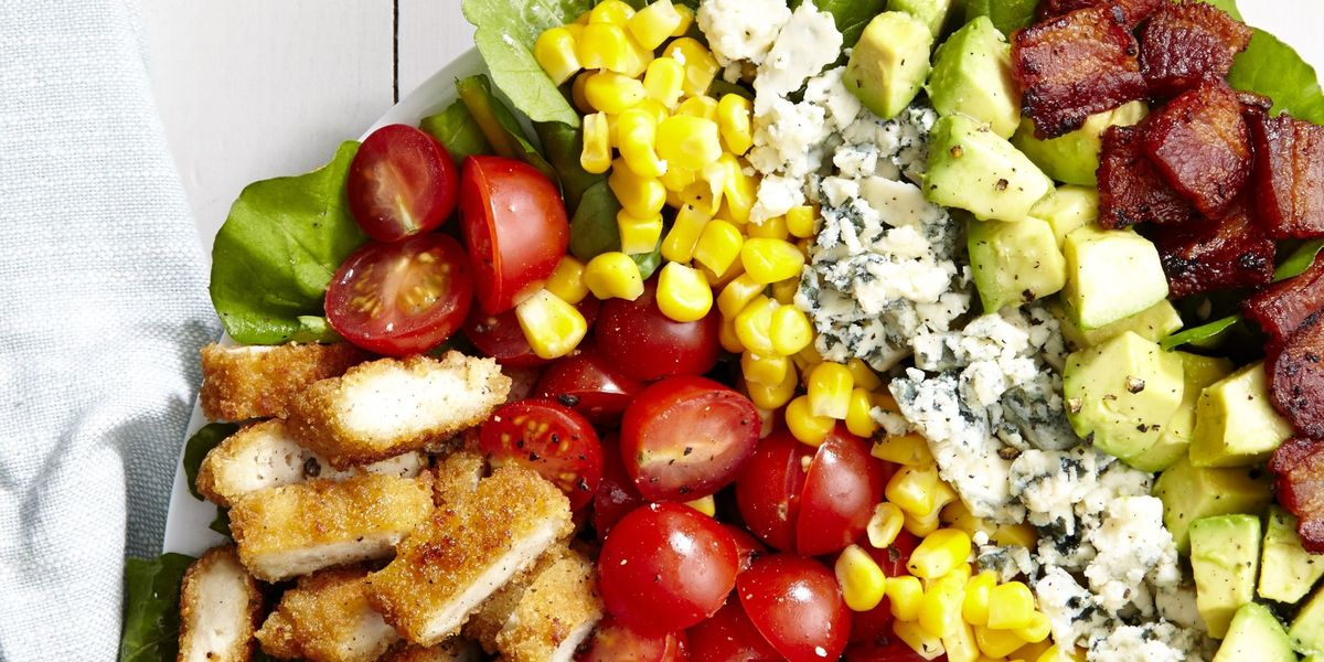 Best Breaded Chicken Cobb Salad Recipe How To Make Breaded Chicken Cobb Salad