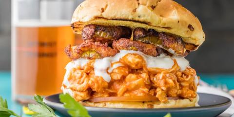 Dish, Food, Cuisine, Hamburger, Ingredient, Veggie burger, Slider, Buffalo burger, Breakfast sandwich, Cheeseburger,