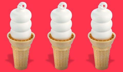 Ice cream cone, Frozen dessert, Soft Serve Ice Creams, Ice cream, Dessert, Food, Dairy, Sorbetes, Cream, Cone,