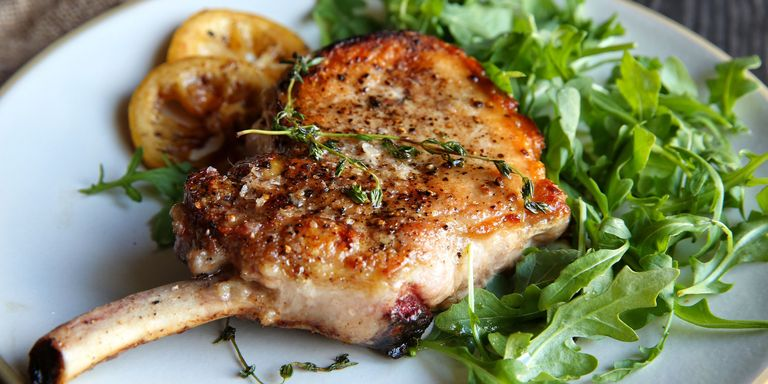 52 easy fathers day dinner recipes best dinners for dads delish recipe for seared pork chops with warm lemon vinaigrette forumfinder