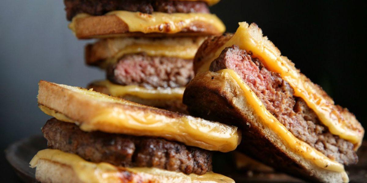 Quot Grilled Cheese Quot Burgers Recipe Delish Com