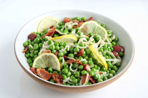 Creamy Peas with Shallots and Bacon