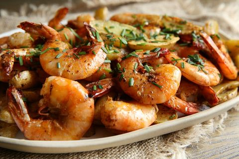 Old Bay Peel and Eat Shrimp with Roasted Fingerling Potatoes Recipe