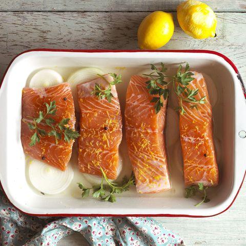Food, Cuisine, Ingredient, Dish, Tableware, Produce, Recipe, Fish slice, Plate, Fast food,