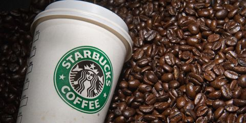 Starbucks Cup With Beans