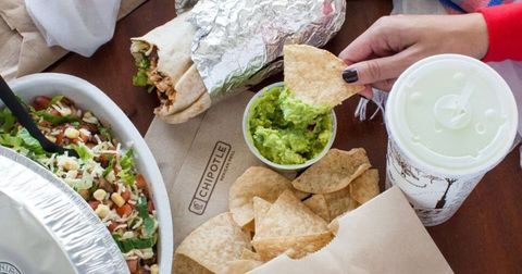 Chipotle offers free chips and guacamole.