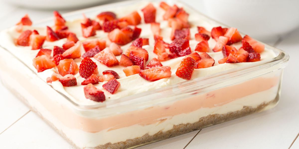 Strawberry Cheesecake Lasagna Recipe Delish Com