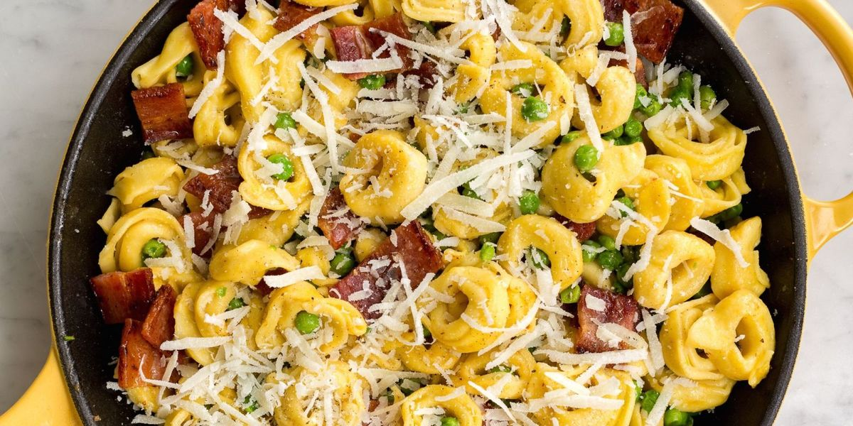 Best Cheese Tortellini With Peas And Bacon Recipe How To Make Cheese Tortellini With Peas And Bacon